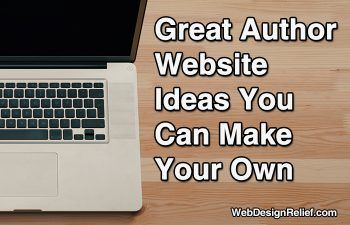 Great Author Website Ideas You Can Make Your Own - Web Design Relief