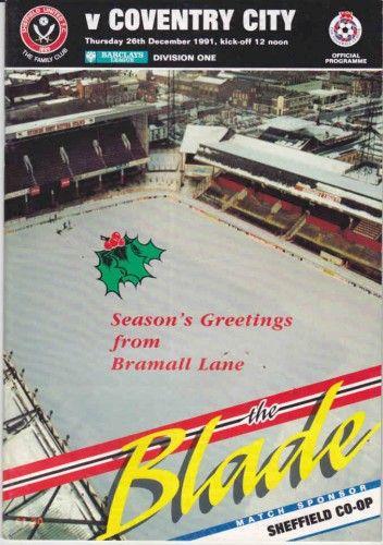 26 December 1991 v Sheffield United Won 3-0