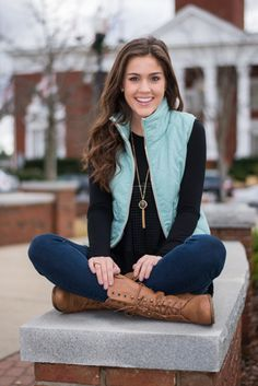 mint vest outfit - Google Search