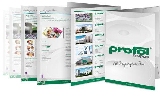Profol Imagemappe und Datenblätter - Messe Fachpack 2013