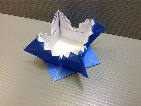 Daily Origami: 038 - Zig Zag Box or Spanish Box - YouTube