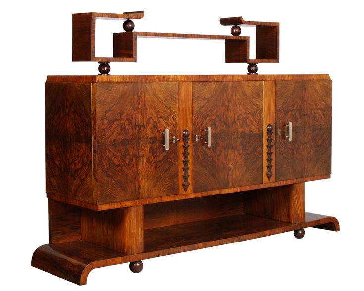 Camera Da Letto Art Decò : Sala da pranzo soggiorno art deco amp radica osvaldo borsani