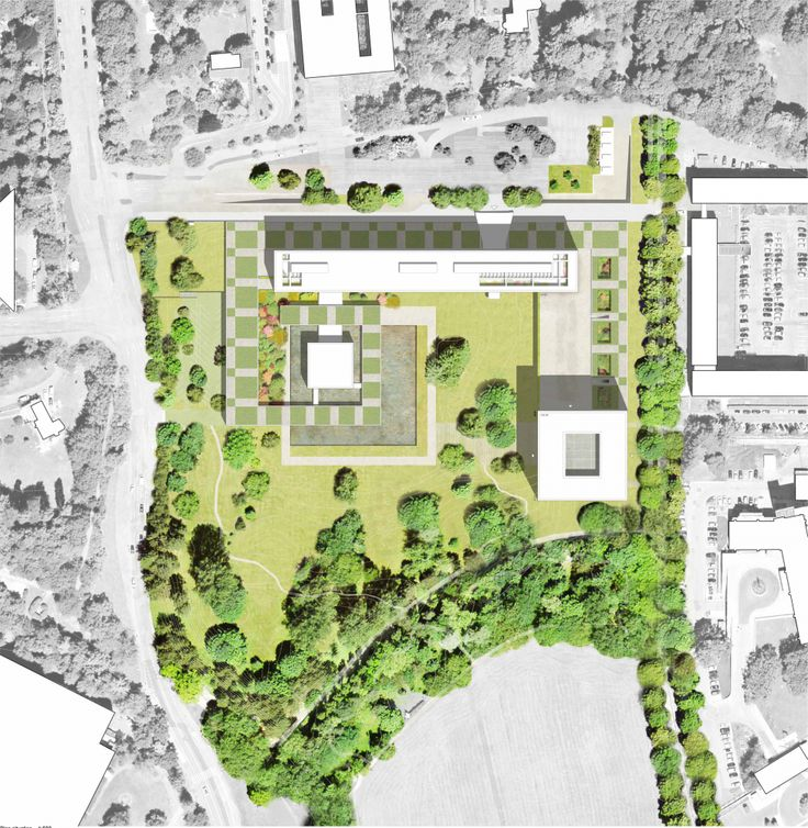 Gallery Of Berrel Berrel Kräutler Wins Competition To Expand WHOu0027s Geneva  Headquarters   5. Architecture GraphicsArchitecture DrawingsLandscape ...