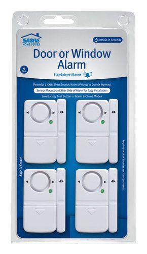 Sabre - Door/Window Alarms (4-Pack) - White