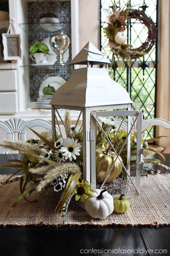 Fall Lantern Centerpiece