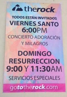 Our Spanish Speaking Easter Services, Servicio de Pascua en ...