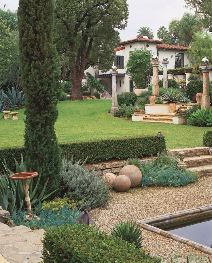 Tuscan House Style With Front Walkway And Italian Cypress: 566 Best Images About House & Garden On Pinterest