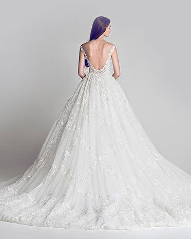 Low back full skirt wedding gown.  Gorgeous Special Collection Of Evening Gowns.  HAMDA AL FAHIM.  Fashion Diva Design