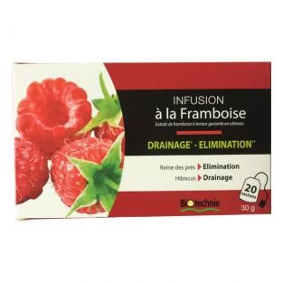 Infusion cétones de Framboise Brûleur Draineur x 20 sachets Biotechnie | Acheter sur Greenweez.com