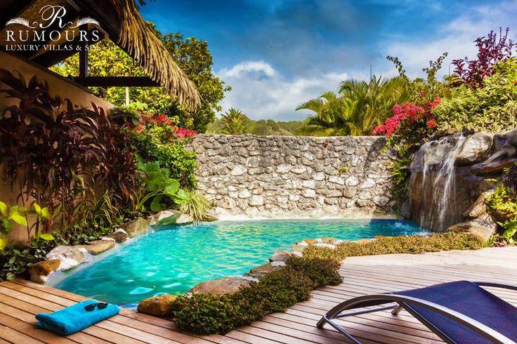 Who would like to go swimming in this beautiful private pool?! #rumoursluxuryvillas  #privatepool #rarotonga