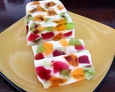 Gelatina de colores con yogur