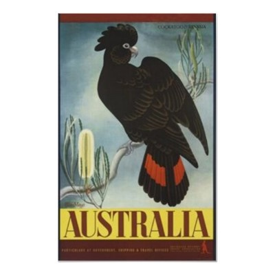 Black Cockatoo: Vintage Poster