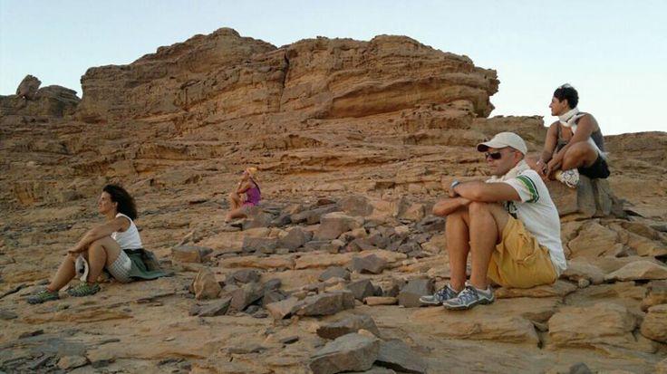 """""""Che emozione il tramonto nel deserto!"""" (Foto: Federica Pisoni #NomadiModerni #Giordania #AroundTheWorld"""