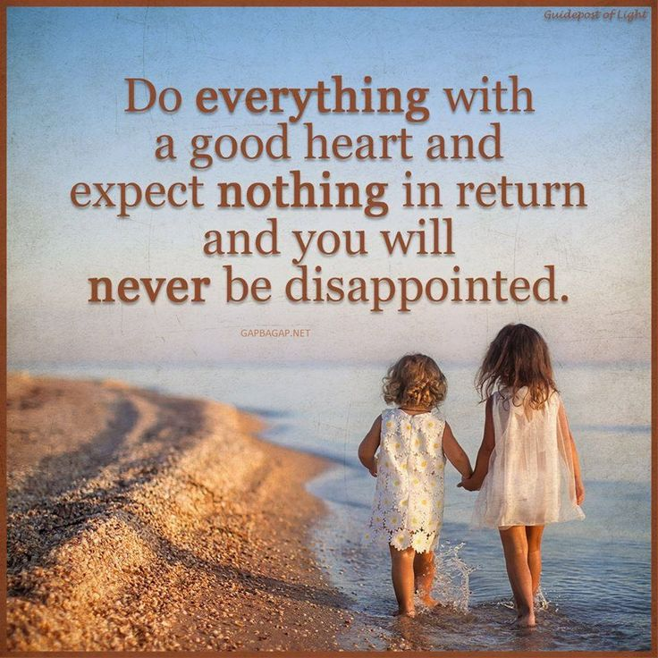 Well Said Quote About Expecting vs. Disappointment...