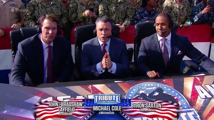 "John ""Bradshaw"" Layfield, Michael Cole, Byron Saxton Tribute To Troops 2017"