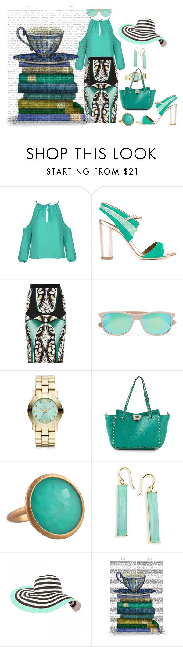 """""""Something wild runs thru his heart when it comes to her"""" by blujay1126 ❤ liked on Polyvore featuring Malone Souliers, Peter Pilotto, Ray-Ban, Marc by Marc Jacobs, Valentino, Jona, Ippolita and FabFunky"""