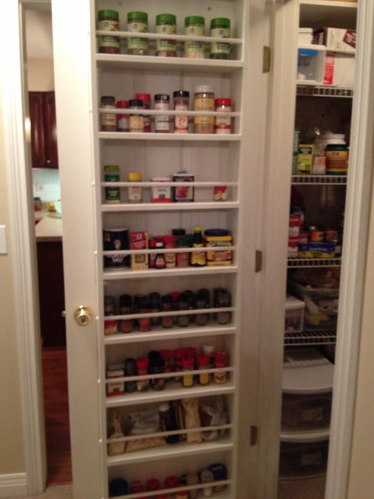 behind the pantry door spice rack organization