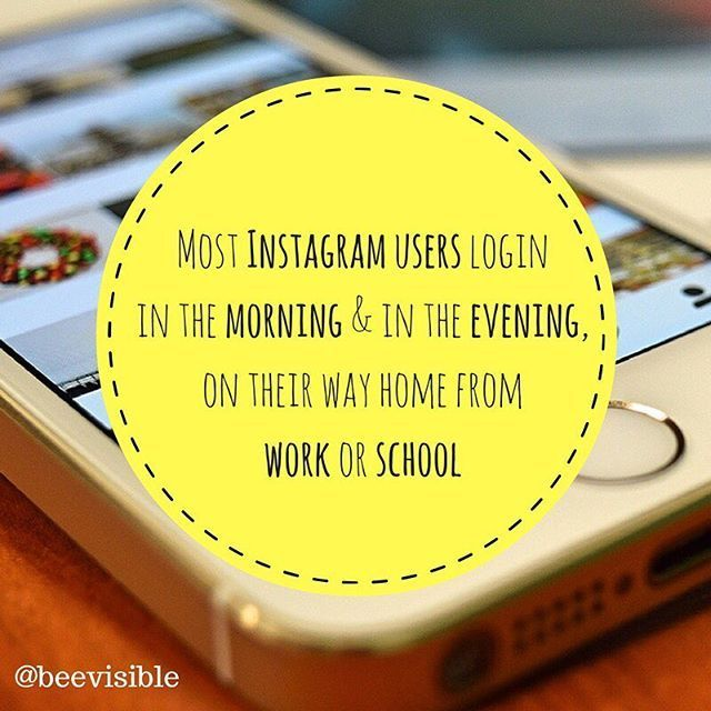 Most Instagram users login in the morning, and in the evening, on their way home from work or school