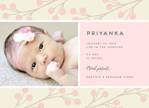 39 best Girls Birth Announcements images on Pinterest Girl birth - fresh birthday invitation baby girl