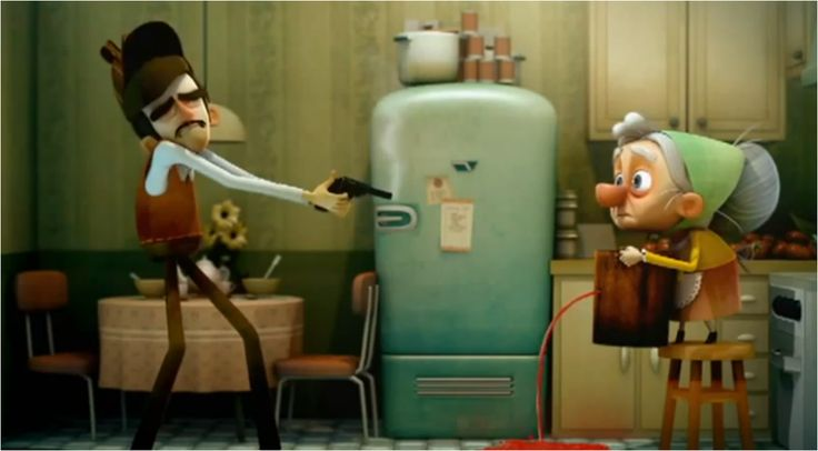 A funny short about a defective detective. Great for imparfait and passe compose
