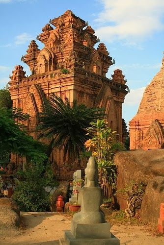 Po Nagar is a Cham temple tower founded sometime before 781 and located in the medieval principality of Kauthara, near modern Nha Trang in Vietnam. It is dedicated to Yan Po Nagar, the goddess of the country.