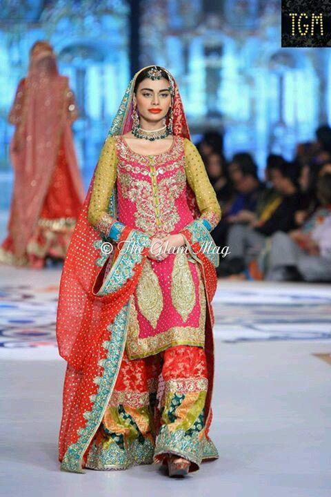 Bridal Couture Week Mehndi Dresses : Best images about nomi ansari on pinterest colors