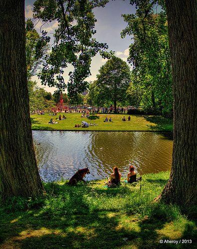Noorderplantsoen & Saturday-Sunshine,Groningen stad,the Netherlands,Europe