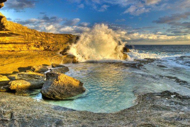 Queen's Bath Eleuthera, Bahamas