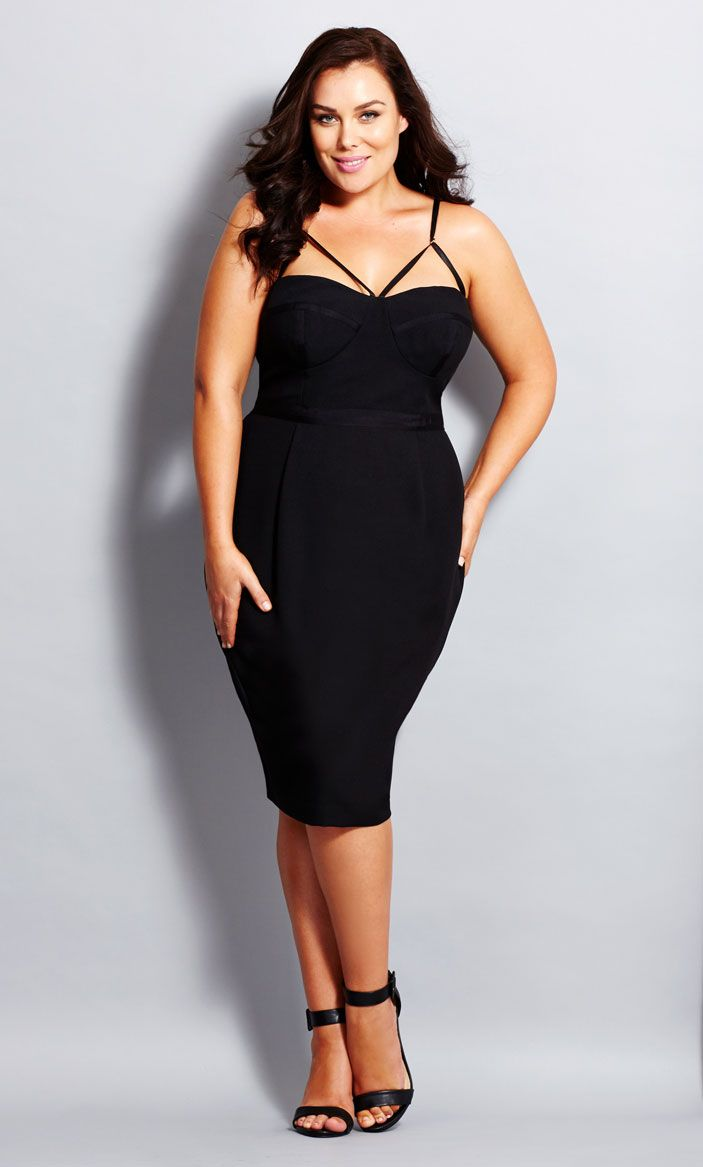 City Chic - UNDRESS ME DRESS - Women's Plus Size Fashion