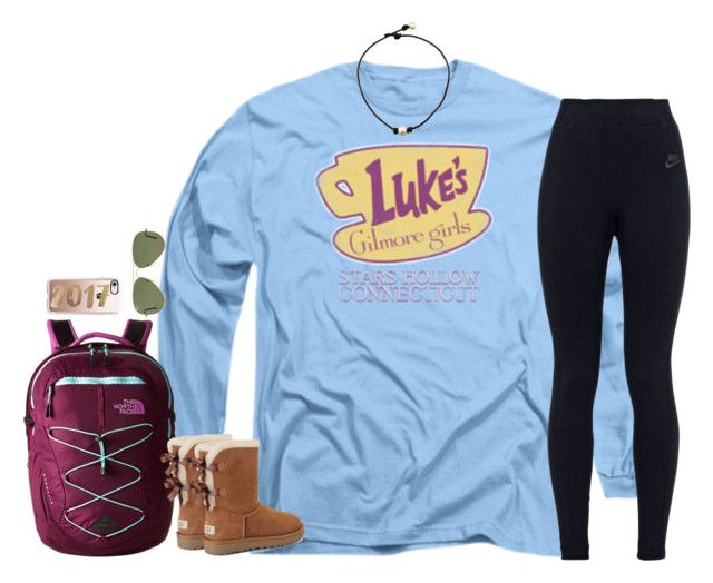 """""""Untitled #1669"""" by southernstruttin on Polyvore featuring The North Face, UGG, NIKE, Ray-Ban and Casetify"""