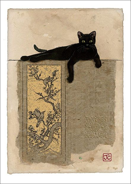 """""""Black Cat Resting"""" - Jane Crowther"""