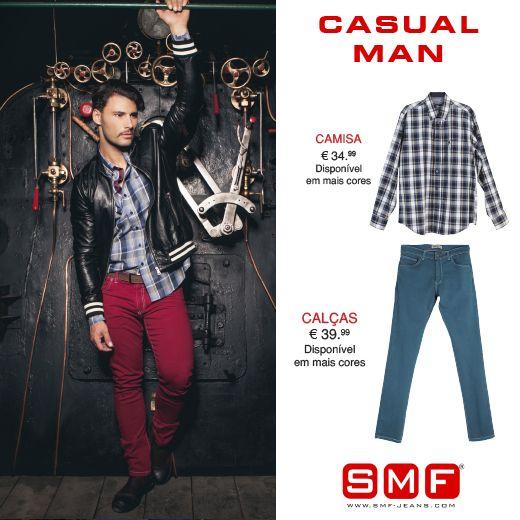 Must Have > > SMF Shop Online! > > Casual Man Shop Here: http://www.smf-jeans.com/homem/camisas/camisa-7730 http://www.smf-jeans.com/homem/calcas/calcas-7435