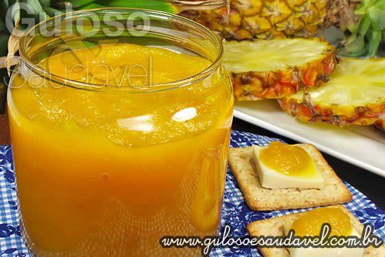 Geleia de Abacaxi Gold » Doces e sobremesas, Liquidificador, Receitas Saudáveis » Guloso e Saudável