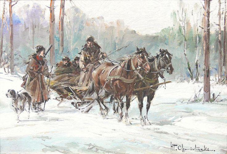 WładysławChmieliński:Scena z polowania