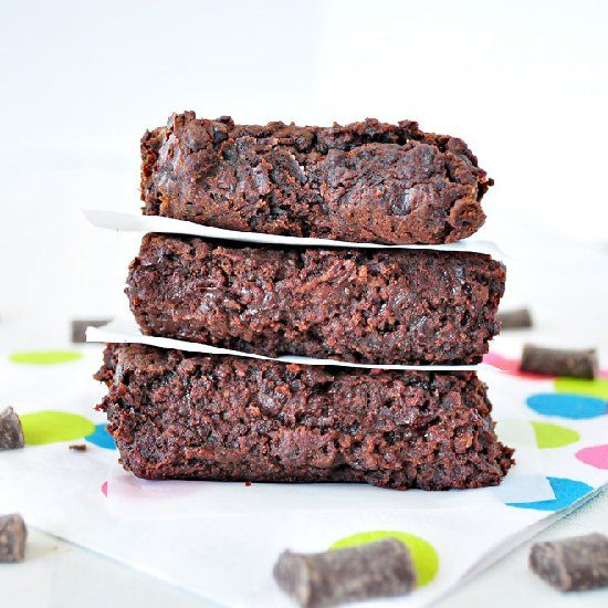 The BEST brownies ever! NO oil, NO flour and NO mixer needed.  Vegan, gluten free and grain free.