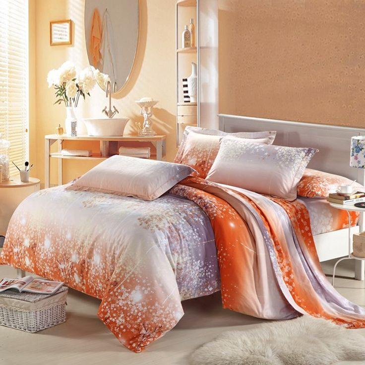 Orange Bedrooms For Girls Bedroom Sets With Led Lights Bedroom Decor Pinterest Black Bedroom Furniture Uk: 17 Best Ideas About Orange Bed Sets On Pinterest