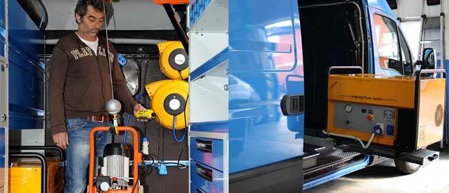 Ecco come far diventare un furgone del tutto autonomo: generatori, compressori, macchine multifunzione, gru per furgoni.