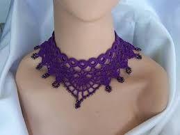 Resultado de imagen para collares de moda tejidos a crochet