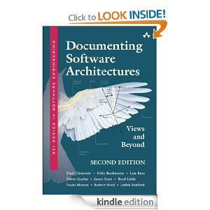 Documenting Software Architectures: Views and Beyond (2nd Edition)   http://www.amazon.com/gp/product/B0046XS3RO/ref=as_li_ss_tl?ie=UTF8=1789=390957=B0046XS3RO=as2=onthemonewi0b-20
