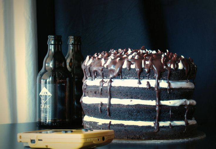 Bday Cake with  black beer fix..  http://handmadecakes.wix.com/cakemyday