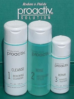 Proactiv Solution 3 pc 60 Day Kit Proactive Cleanser Toner Lotion Exp 2018