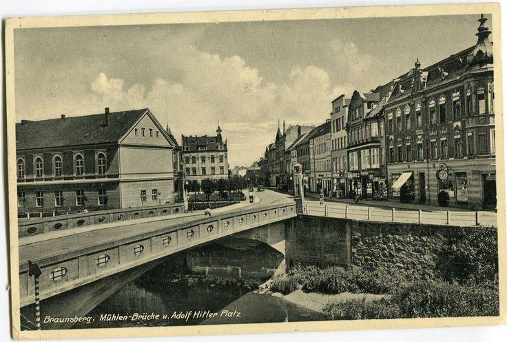AK Braunsberg Ostpreußen,Braniewo,Adolf Hitler Platz,bei Frauenburg um 1940