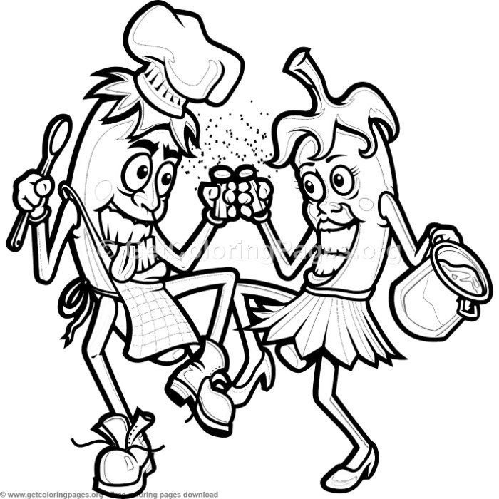 Chili Peppers Cooking Coloring Pages Free Instant Download