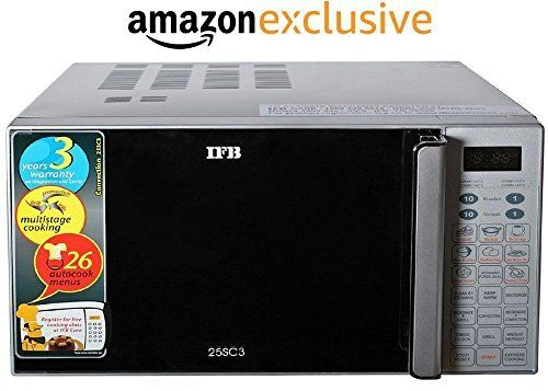 IFB 25SC3 25-Litre 1400-Watt Convection Microwave Oven (Metallic Silver) IFB 25SC3 1400 Watt Convection Microwave is one of the most selling products online in Kitchen category in India. Click below to see its Availability and Price in YOUR country.