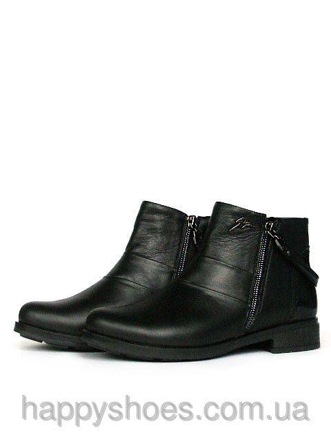 """Купить Черные ботинки женские в Запорожье от компании """"HappyShoes"""" - 390306029"""
