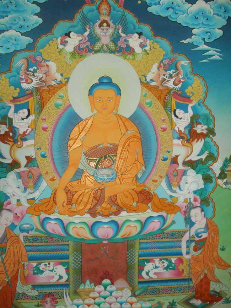 Shakyamuni Thangka Art Size; 107x86 inch Price 1500 USD