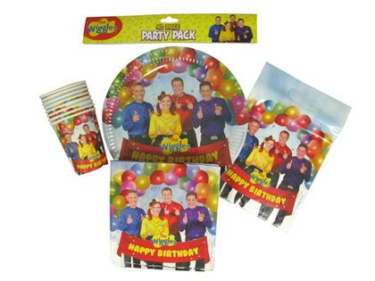 The Wiggles 40 Piece Party Pack is a must for your next Wiggles themed birthday party.