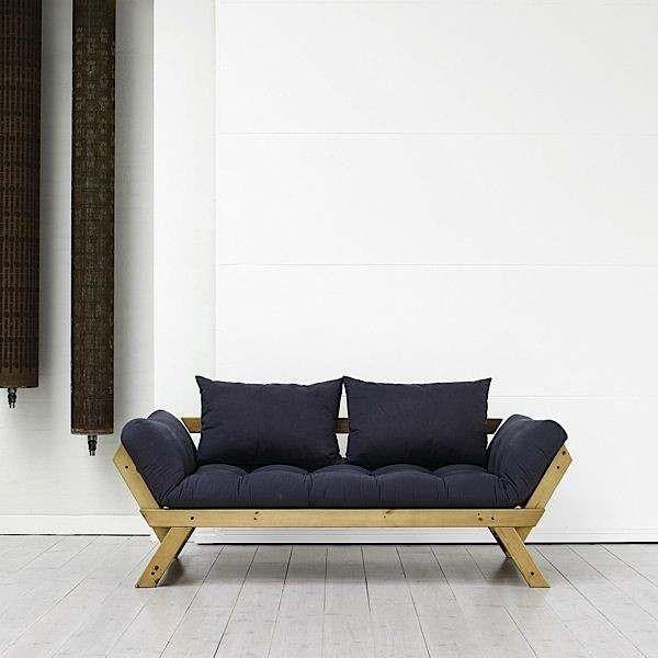 ALULA : sofa, méridienne convertible en lit d'appoint - incluant le futon et deux coussins - nordique, déco et design