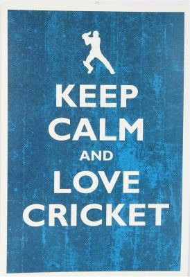 Keep Calm and Love Cricket Paper Print - Sports posters in India - Buy art, film, design, movie, music, nature and educational paintings/wallpapers at Flipkart.com