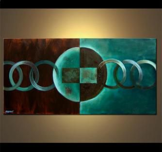 Abstract painting - The Moons of Titan